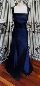 ALFRED SUNG NAVY SZ 12 $255 FORMAL GOWN DRESS